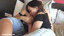 Hot lesbian Mary Kalisy having fun with Asian teen Thumbnail