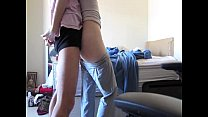 Spanking couple enjoy a long and hot foreplay b...