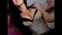 A sexy amateur cutie teasing on webcam showq