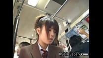 Asian babe has public sex Thumbnail