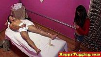 dick customers rubs masseuse jap Real