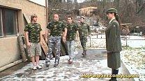 military gangbang bukkake orgy
