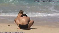 Golden Shower on the Beach