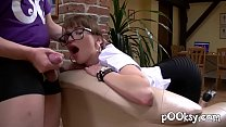 French Secretary with Hot Glasses Loves Deepthr...