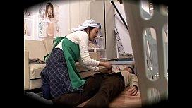 【盗撮】SOD社員の若いチンコが清掃のおばちゃんに犯される