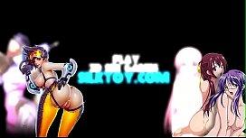 【3Dエロアニメ】爆乳黒ギャルが男3人を相手に精子を搾り取る肉便器に1