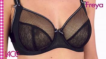 Lingerie model on underwear fashion show