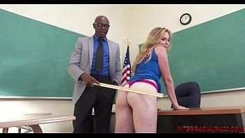 Schoolgirl Britney Light takes teachers big black dick