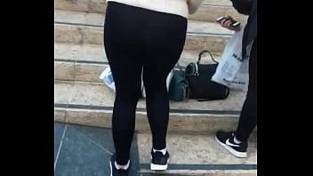 thumb Thong On Leggings Sexy Asian Girl