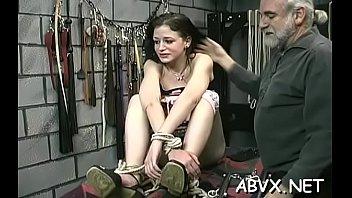 Woman endures heavy bondage sex at home in amateur movie scene scene spanking sex-vids