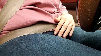 thumb Masturbating In Parked Car