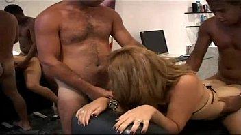 Tranny bareback threesome