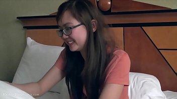 thumb Cute Busty Asian Girlfriend Fngers In Glasses