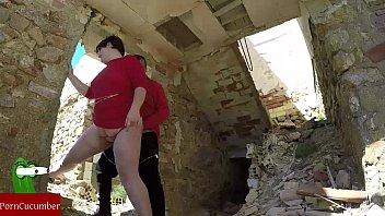 Couple fucking between ruins | Video Make Love