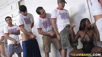 Ebony Jessica Grabbit Enjoys Gangbang With White Guys  #1142797