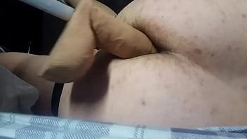 Homemade ass fuck dildo boy