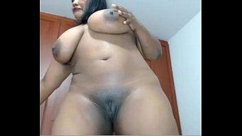 Beautiful ebony bbw slut shares herself