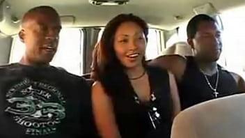 Ebony gangbang