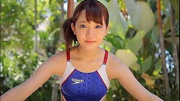 Azusa Tsukahara High-leg swimsuit blue legs-fetish image video solo