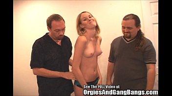 Hottie blondie fucked by two dicks!