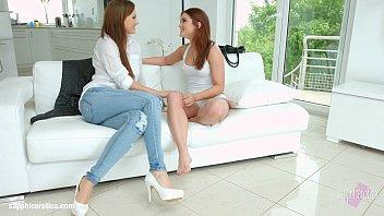 Lesbians Ruth Medina and Tina Kay get kinky with a sex machine  256481