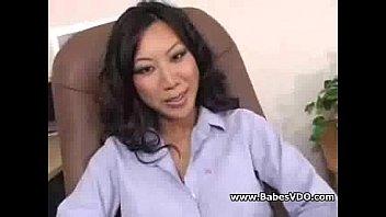 Asian teacher double cocks