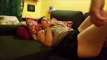 Big boobies slut jerks horny dude