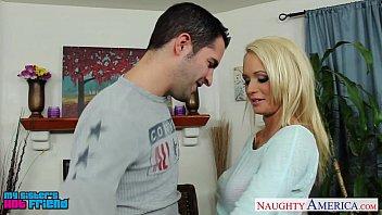 Cock crazed blonde babe Sandra Lubers sucking a cock before a cumshot № 278511  скачать