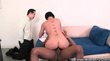 Horny Shay Fox blows a stud in front of his poor girlfriend