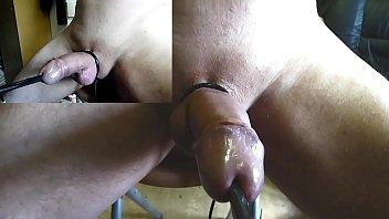 incroyable electro insertion uretre electrode boule zoom grosplan ejac Estim