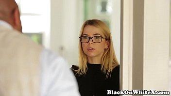 Interracial petite student throating BBC   Video Make Love
