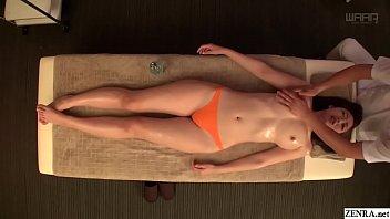 水野朝陽 全身オイルマッサージ 強気な女だが感じてしまう敏感でエロに正直な体