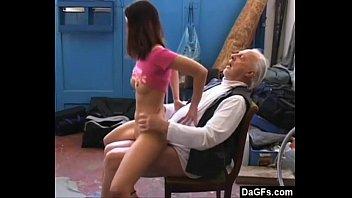 Share Old pervert loves virgin pussy