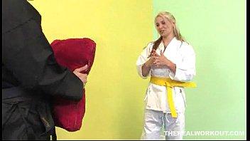After A Hard Fuck Sara Vandella Licks Her Karate Masters Cum In The Floor Hardcore Sex Video Tub Xvideos Com