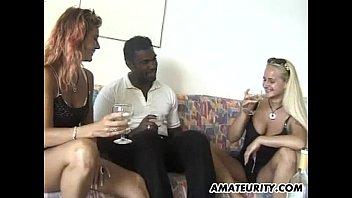 thumb Amateur Interracial 3some With Facial Cumshot