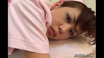 Horny japanese nurse gives special treatment