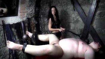 Mistress Isobel Brutally Canes Her Slave's Bare Ass!
