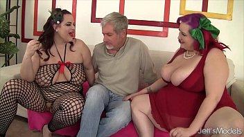 BBWs Eliza Allure and Jordan Luxx share a cock | Video Make Love