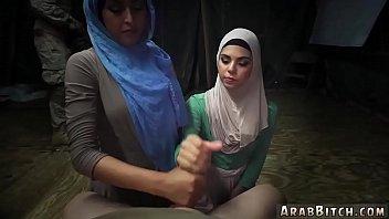 thumb Muslim Woman And Arab Teen Dance Sneaking In The Base