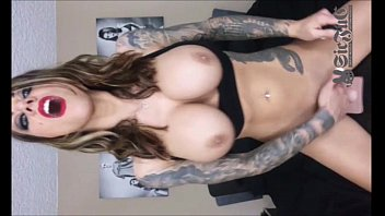 Tattoo TEEN Karma Rx on Sybian Sex Machine DOUBLE PENETRATION
