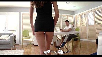 xxarxx HD  Tiny4k Teen Kacy Lane shoves big cock in her tiny pussy