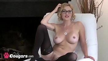 Amateur MILF In Fishnet Stockings Dildos Her Pu... | Video Make Love