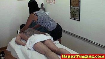 thumb Cumshot Handjob Massage Porn Video