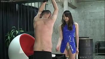 Japanese Mistress Alice slapped the