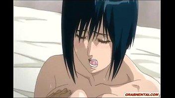 エロアニメ キモ男に脅迫されて嫌なはずなのに乳首が感じちゃってる巨乳娘