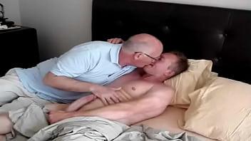Home Again - Daddy and Admirer Gay Fun sucking gay