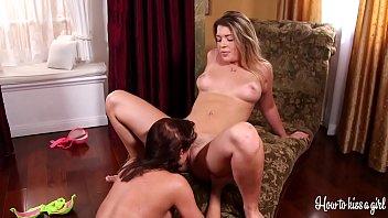 Perfectassed babe Jenna Ashley starts undressing and masturbating