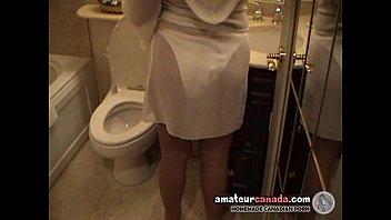 Блондинка в белом нижнем белье секс