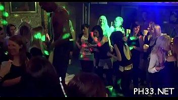 Plenty of bang on dance floor blow jobs from blondes wild fuck