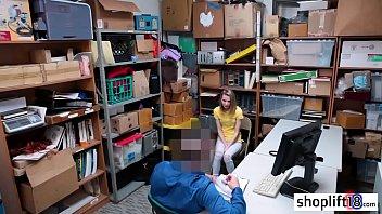 thumb Afraid Blonde Teen Sucks A Perverted Cops Big Cock